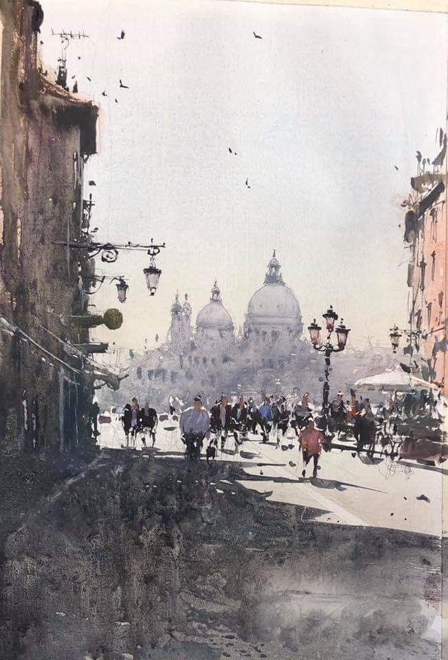Joseph Zbukvic Watercolor City Watercolor Landscape Cityscape Art