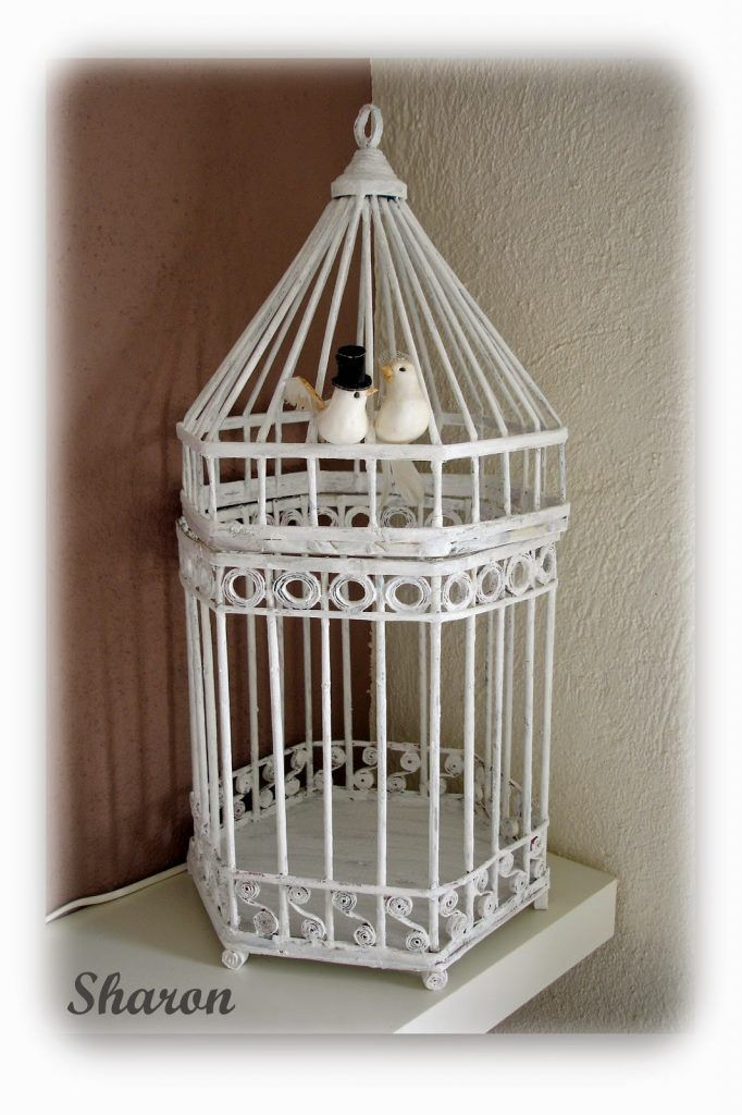 cage from newspaper tubes