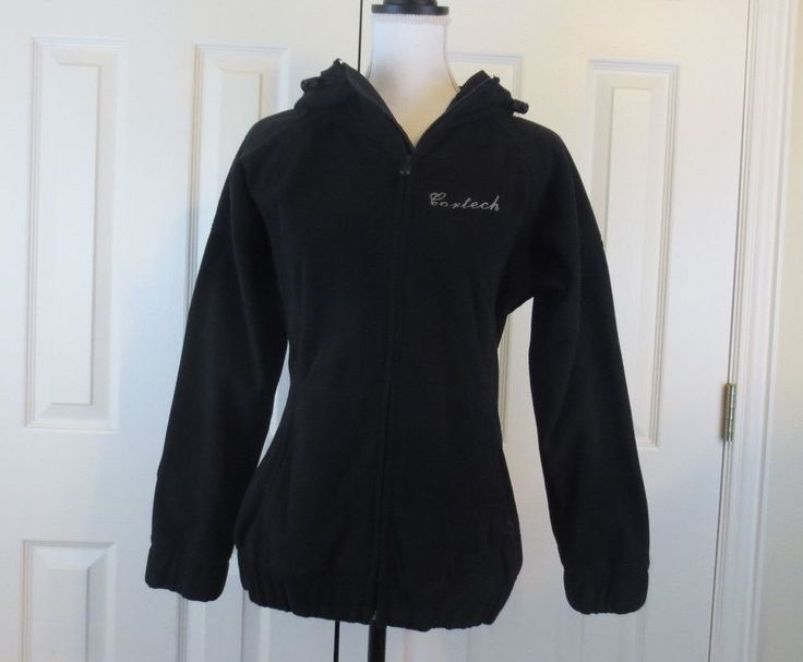 Cortech Women's Fleece Hoodie Black Plus Sz  Medium 10 12 Motorcycle Street Gear #Cortech