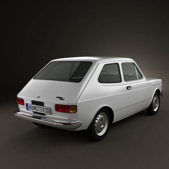 Fiat 127 1975 Fiat 3d Model Model