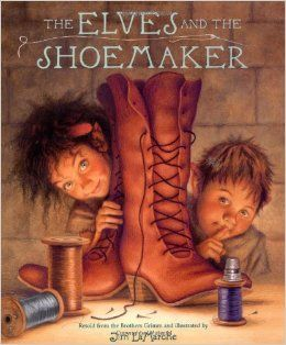 March 2016- Book Club - The Elves and the Shoemaker by Jacob Grimm. (not an affiliate link, endorsement, or sponsorship) #childrensbooks #elves #Bookclub