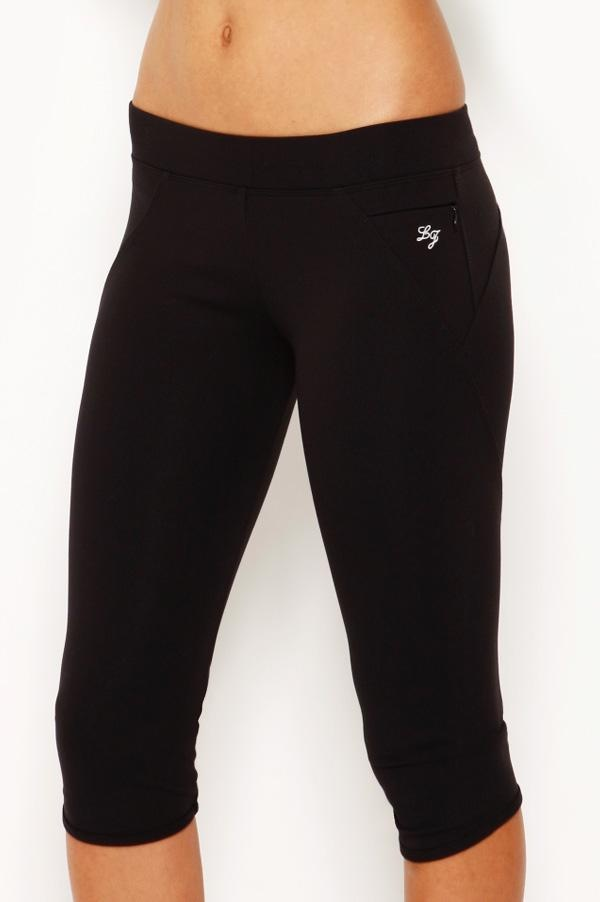We love the Lorna Jane Amy tight. They come in 3/4 and full length. Very comfy!