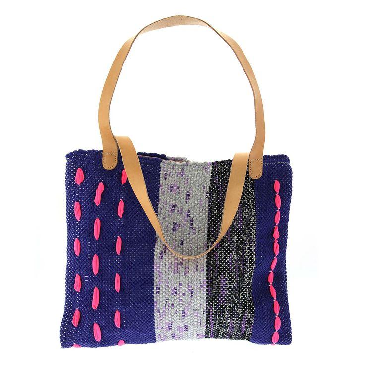 "LOOM handmade woven ""kourelou"" handbag, ""Klotho"" !!! #new_collection #LOOM_SS15 #handmade_woven_bags #kourelou #creation_from_rags #Loom_From_Hand_To_Hand #Hold_on_to_what_matters www.loomhandmade.com"