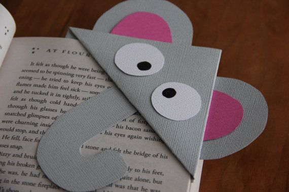Items similar to Elephant Corner Bookmark on Etsy