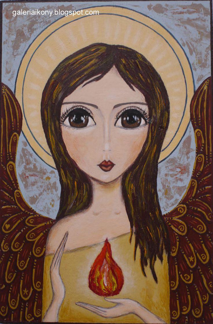Angel Guardian bringing Light. Żukowska