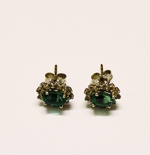 Cercei cu smaralde/Earrings with emeralds