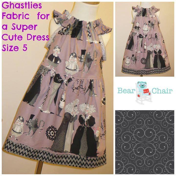 Handmade By Bear In A Chair Ghastlies Fabric for a Super Cute Dress