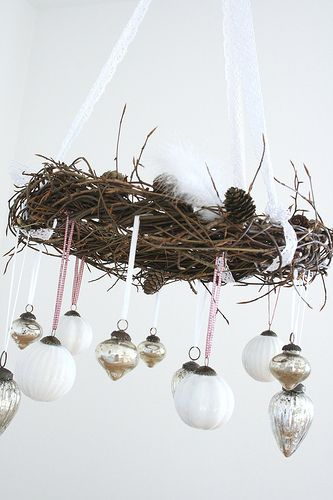 Hanging bauble decoration - lovely to hang over the dining table at Christmas