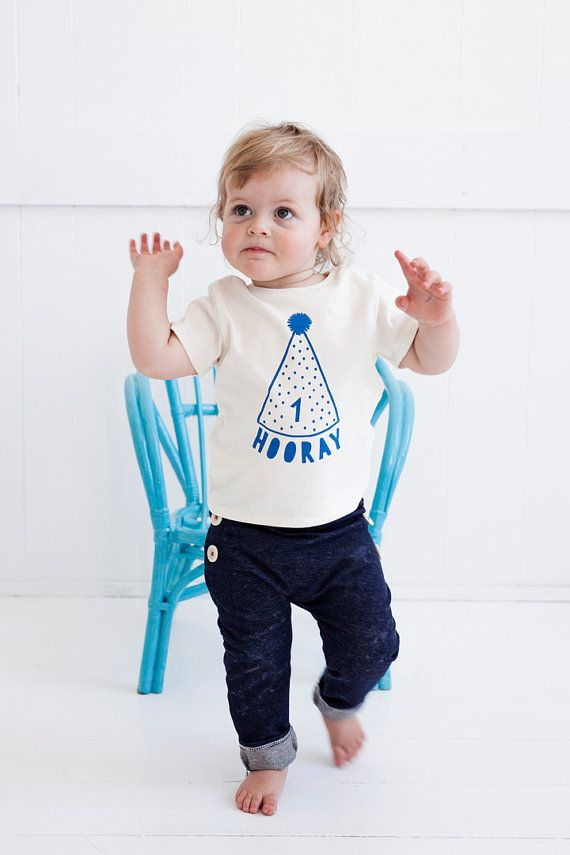 Celebrate a major milestone with this made-to-order first birthday tee from Etsy seller PaulandPaulaShop. #etsyfinds