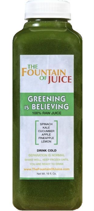 The Fountain of Juice 100% Raw Juice Cold-Pressed No-HPP Greening Is Believing (8 Pack) http://juicerblendercenter.com/which-vitamix-to-buy/ #naturaljuice #juicing