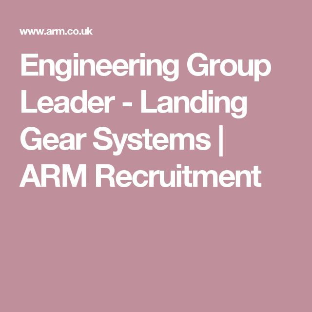 Engineering Group Leader - Landing Gear Systems | ARM Recruitment