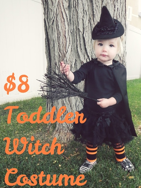 Toddler Witch Costume for 8 bucks