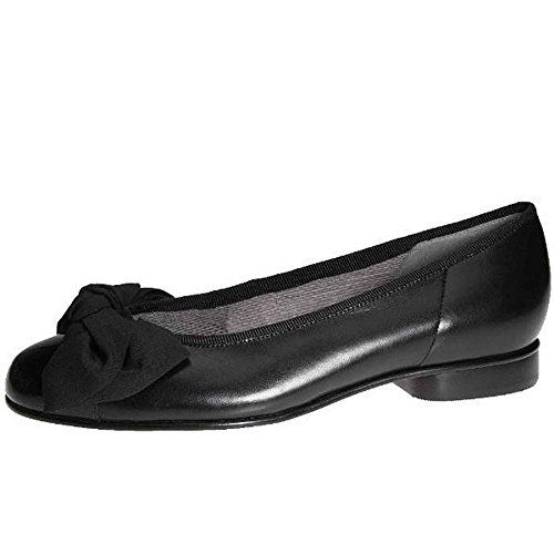 Gabor Womens Amy Bow Trim Ballerina Pumps 55 C M UK 75 BM US Black >>> You can find more details by visiting the image link.
