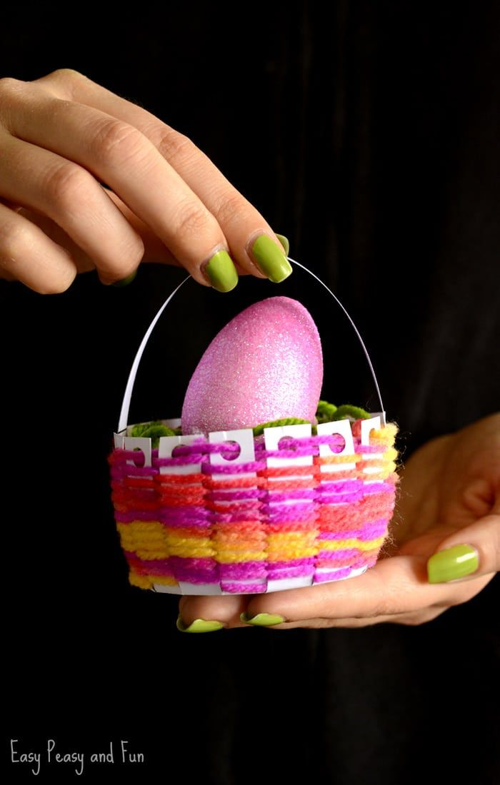 Woven Easter Basket Craft Must Do Crafts And Activities
