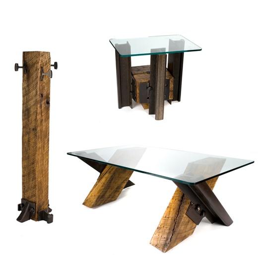 Railroad ties to furniture
