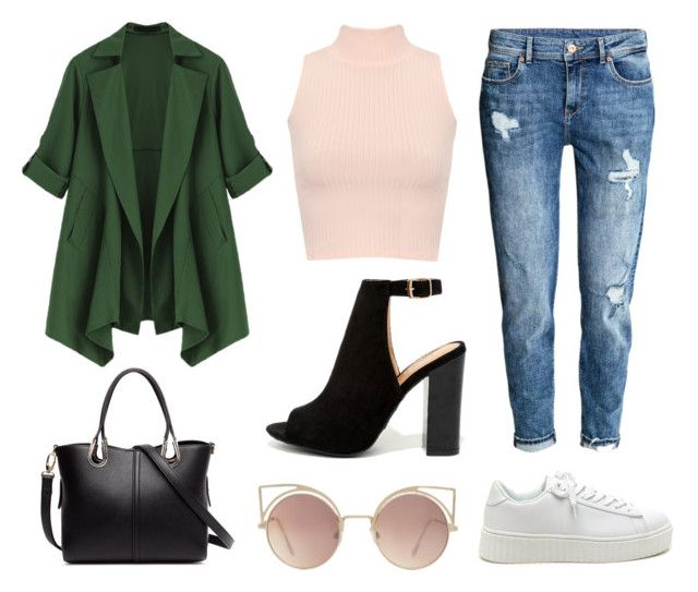 """""""Look do dia #1"""" by bloguerosa ❤ liked on Polyvore featuring H&M, WearAll, Bamboo and MANGO"""