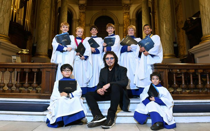 Tony with the boys of Birmingham Cathedral Choir...