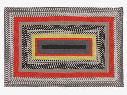 NEW FOR 2014! YORKE Muli-coloured braided rug 120 x 180cm - HabitatUK. The striking rug is made from a durable cotton/polyester mix – perfect for a variety of spaces, from kitchen/diners to kids' rooms and studies – and exclusive to Habitat.