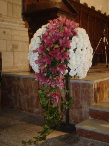 Bola de flores especialmente dise ada para la decoraci n - Arreglos de flores para bodas ...