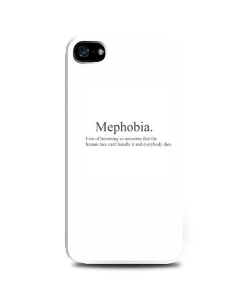 Mephobia iPhone case by Haru Shop. WHite caase with mephobia print in front. Case made from a good plastic that wont scratch your phone, also available for samsung galaxi grand, samsung galaxy note 2 and 3, samsung galaxy s3,s4 and redmi xiaomi. http://www.zocko.com/z/JEoWz