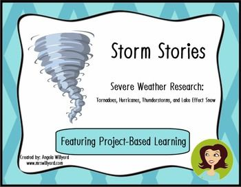 This product is a dynamic project-based learning 10-day unit that will allow students to research about four severe weather storms: tornadoes, hurricanes, lake effect snow, and thunderstorms.  Students will research to make a  Storm Stories Recipe Flip Book. Once the flip books are complete, the students will work to complete the second task of the project, which is to create an informative newscast as if they were the reporter live on the scene of the storm.