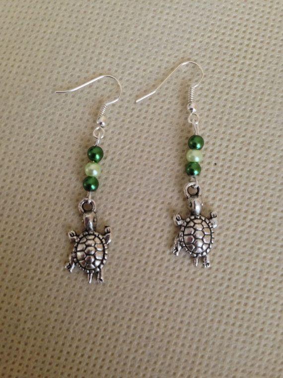 Turtle Earrings by ACharmedDelight on Etsy, $10.00