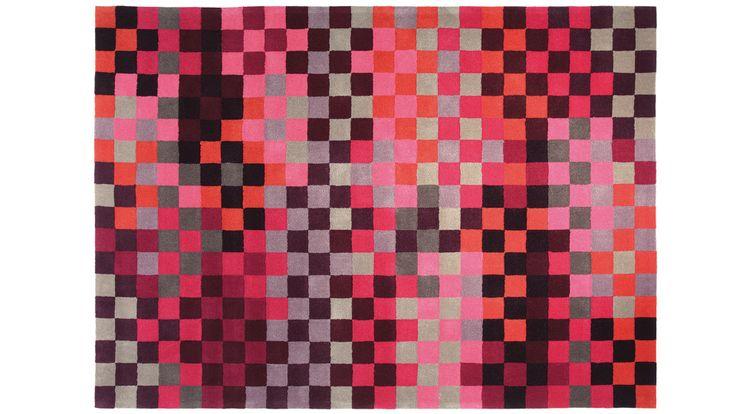 Tapis esprit 39 pixel rouge 39 saint maclou deco - Tapis vintage saint maclou ...