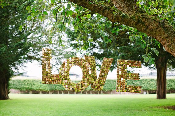 TO BUY: Shimmery Love Letters - Wedding Hanging Decor Prop Sign, Bespoke options available