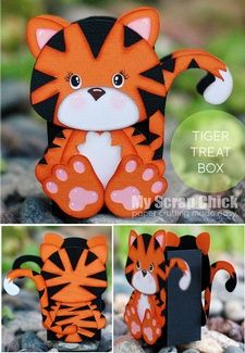 Tiger Treat Box with Backside: click to enlarge