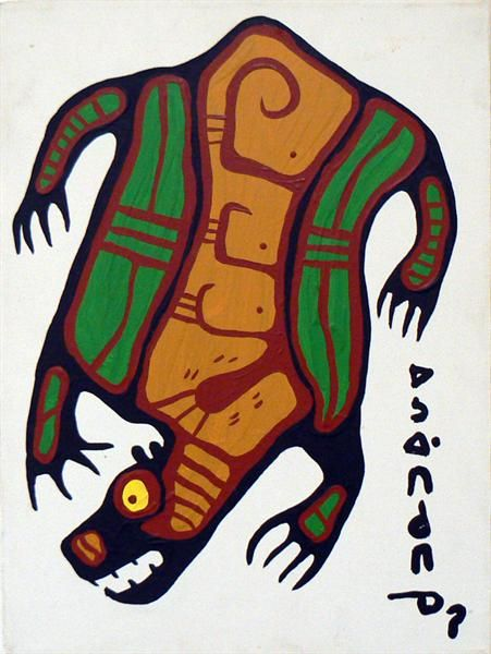 Ojibway Bear - Contemporary Canadian Native, Inuit & Aboriginal Art - Bearclaw Gallery