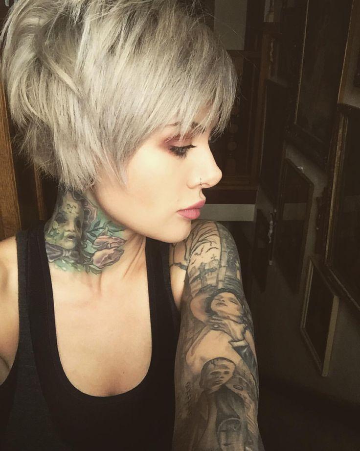 Silver pixie cut • short bob haircut