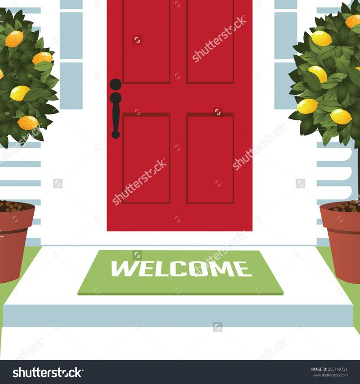 open front door illustration welcome spring wreath mat at front door with lemon trees eps 10 vector royalty free stock 13 best sketch book images on pinterest sketches sketching and book