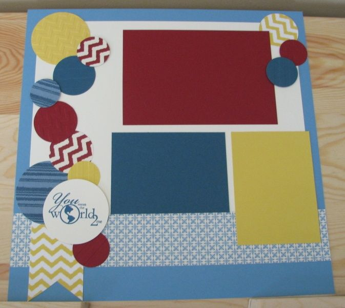 scrapbooking page layout with stampin up stamps | ... 're my World Scrapbook Layout | Stampin' Up! Scrapbooking Page Ide