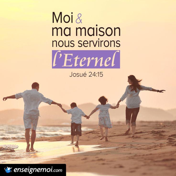 Célèbre Josué 24:15 « Moi et ma maison, nous servirons l'Eternel  JC65