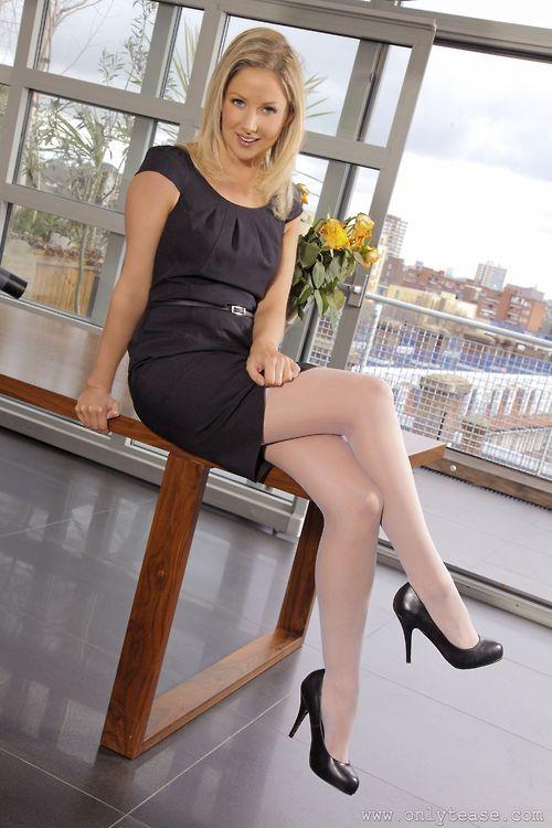 Sexy Secretary  Office  Secretary Fantasy  White Tights -6199