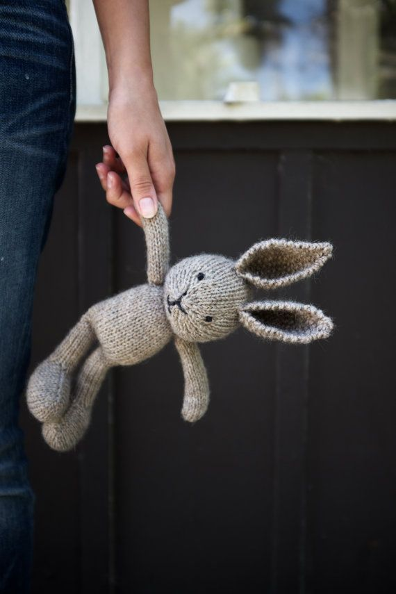 Heirloom Knitted Bunny Plush Stuffed Animal Soft by ChloeAlexa