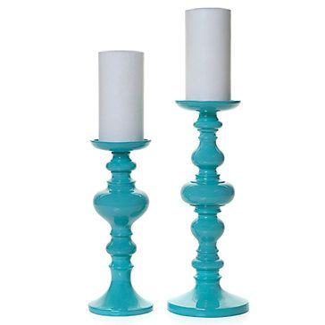 Z Gallerie - Mariposa Pillar Holder - Aquamarine: Pillar Holders, Decor, Galleries, Turquoise, Colors, Candle Holders, Candles Holders, Mariposas Pillar, Aquamarine