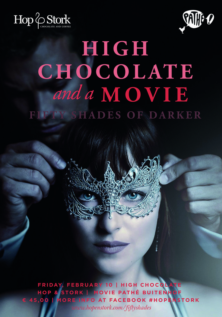 Double pleasure on February 10th with our ultimate High Chocolate and a movie: Fifty Shades Darker (The Hague). Book your tickets now because full = Full!!  Look at: http://hopenstork.com/fiftyshades/ for more info or book directly via: http://hopenstork.com/agenda/ #FiftyShadesDarker