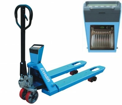 Useful weighing scale pallet truck   ESP20P Weigh Scale Pallet Truck with Printer    This heavy duty weighing scale pallet truck with printer is an ideal solution for most weighing requirements in busy warehouse enviroments  http://www.midlandpallettrucks.com/midland-pallet-trucks-Product.asp?p=19654=ESP20P Weigh Scale Truck with Printer
