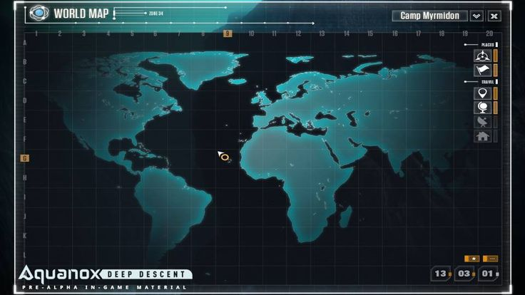 Check out our new post about Zones and the World in Aquanox #aquanox #deepsea #ocean #map