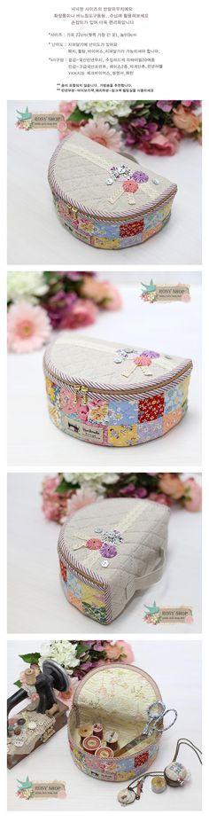 [패치 반달파우치2 (4차)] - sewing case - 22x4cm - Rosy Quilt