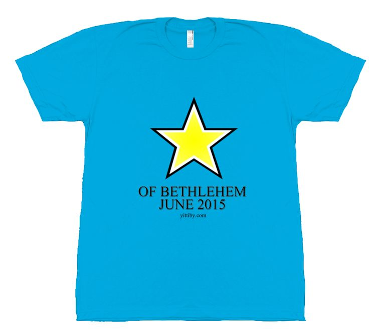 "Women's Star of Bethlehem T Shirt celebrates the star in the sky, that hadn't been seen since the birth of Christ 2000 years ago. Wear this ""Yittiby T"" with pride as it represents Christ birth and return. Support Yittiby purchase a T and help them with their online mission to spread the love of Jesus!"