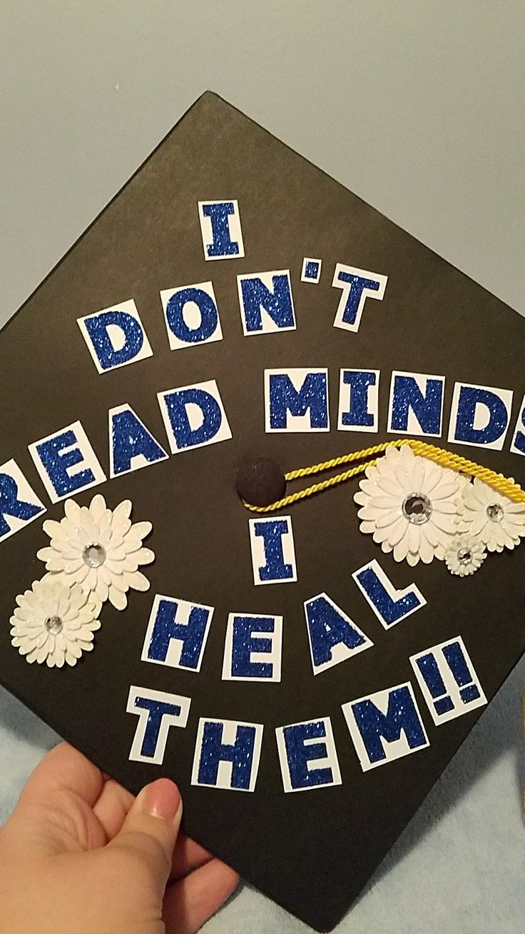 """I read no thoughts, I heal them"" Graduation cap for psychology major and future advice major #psychology #Consultation #Cover cap"