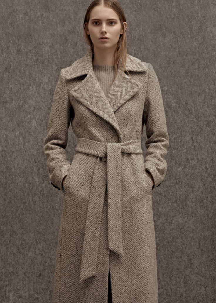 Premium - langer wollmantel -  Damen | MANGO