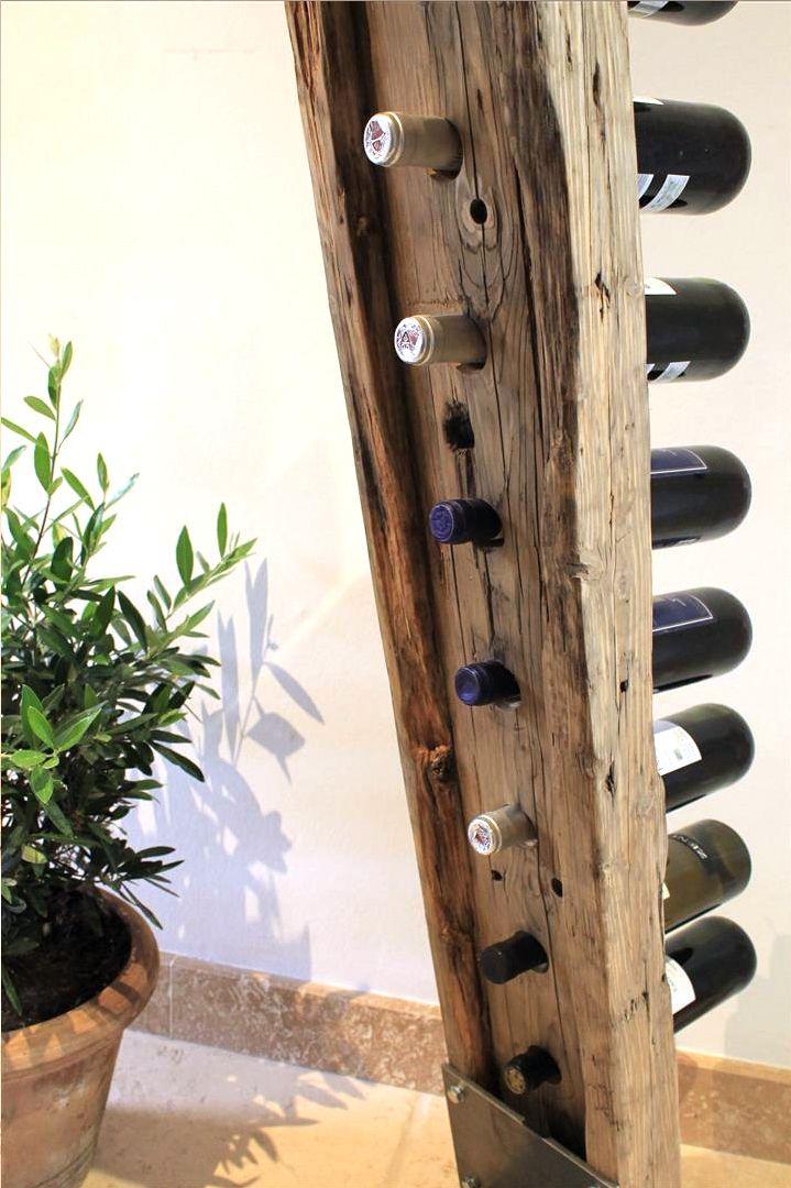 Weinstander Weinhalter Wine Rack Design Rustic Wine Racks Wood