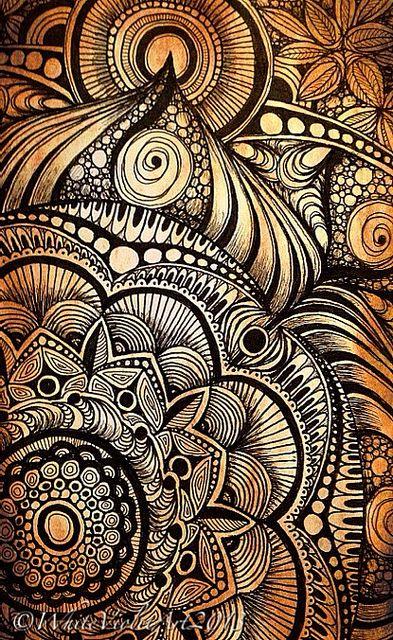 Sunday Afternoon Mandala by White Violet Art, via Flickr