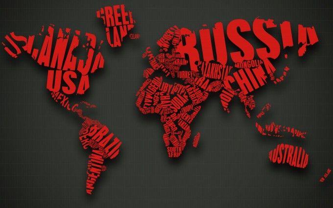 World Map Abstract 4K Wallpaper