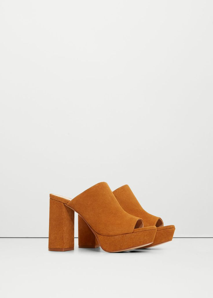 Sandalia piel plataforma - Zapatos de Mujer | MANGO España
