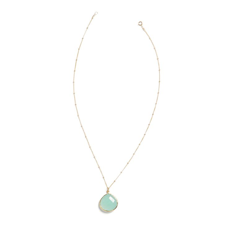 Simple and dainty this teardrop stone necklace will be a favorite in your jewelry box. Wear it alone or layer it with medium and long length necklaces. (Stitch Fix Krista Teardrop Stone Necklace)