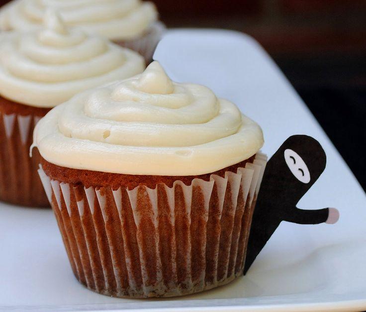zakka life: Free Printable: Ninja Cupcake Toppers